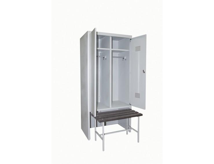 Шкаф для спортивных раздевалок со скамьёй Сотня ШГС/600 СК