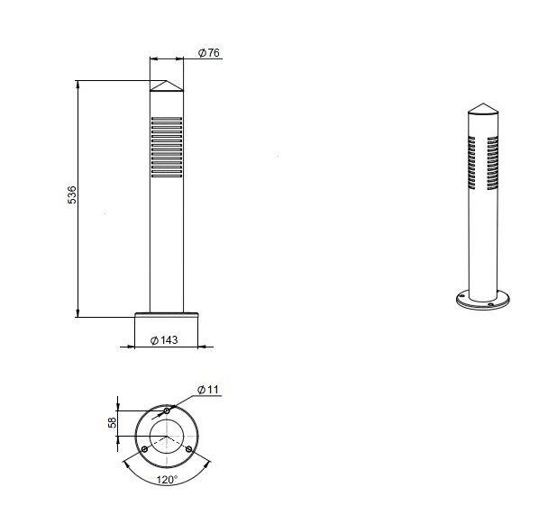 Уличный светодиодный светильник FGL 01-15-50-S