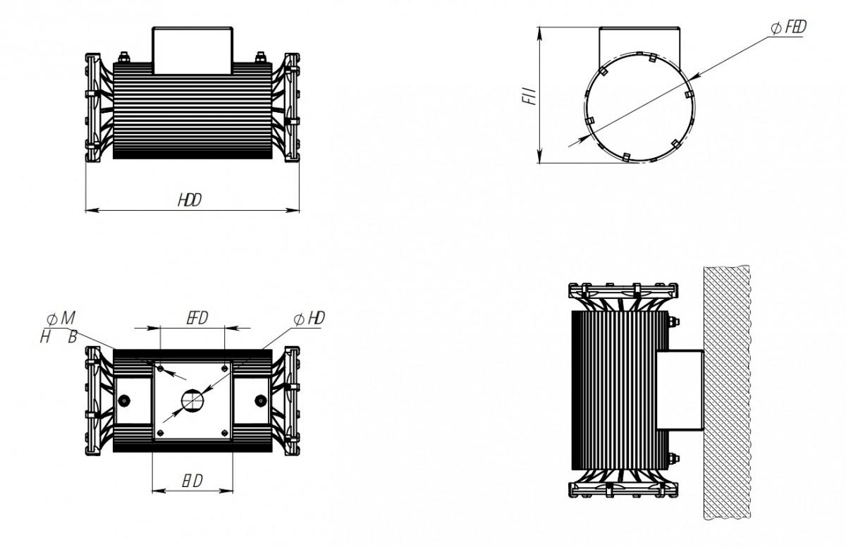 Светодиодный прожектор ДБУ 07-70-RGB-Д120