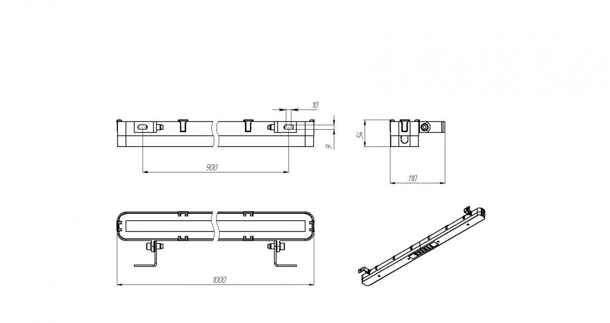 Светодиодный прожектор FWL 35-45-W50-F30 Магистральный провод