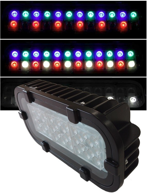 Светодиодный прожектор FWL 12-26-50-D65 RGBW Черный корпус